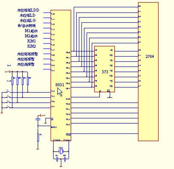 水塔水位控制梯形图; 51单片机编程与设计