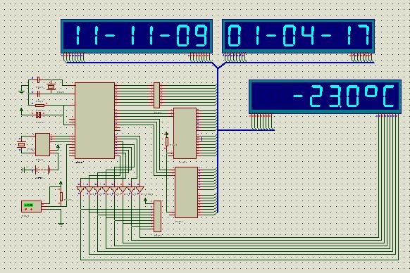 数码管显示模块化显示电子万年历