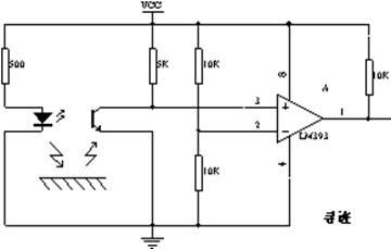 2 电动车的方向检测电路(b) 电桥一端接电源,另一端接了一个三极管.