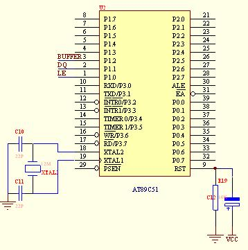 对51系列单片机来说,最小系统一般应该包括:单片机,晶振电路,复位