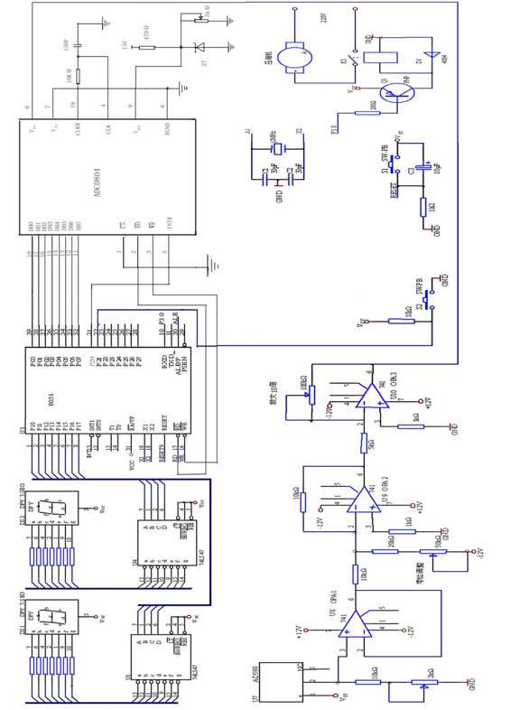 图2空调硬件电路原理图
