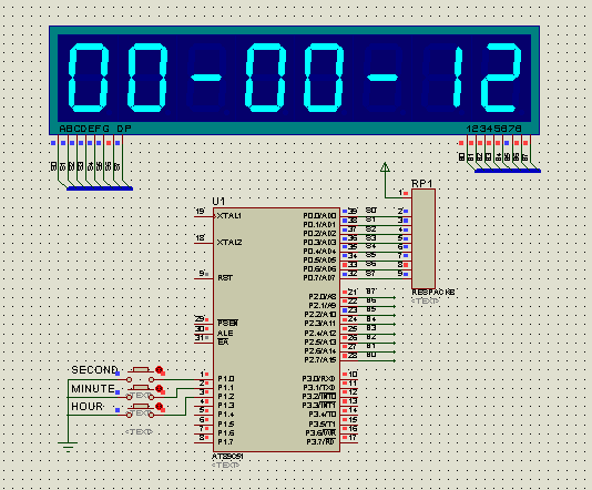 畢業設計,單片機數字電子鐘的設計與實現,畢業論文