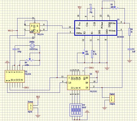 锁相环频率合成器设计电路图
